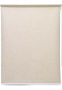 Cortina Soft Jacquard 2 Folhas 160X160 - Evolux - Bege Médio