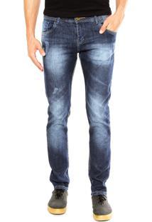 Calça Jeans Nicoboco Branch Azul