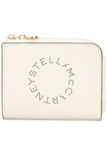 Stella Mccartney Carteira Com Estampa De Logo - Branco