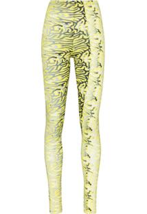 Maisie Wilen Body Shop Graphic-Print Leggings - Amarelo