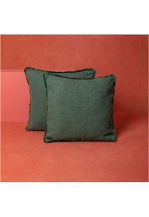 Capa De Almofada Liu Cor: Verde - Tamanho: Único