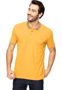 Camisa Polo Sommer Logo Amarela