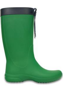 Galocha Crocs Freesail Rain Boot- Verde & Pretacrocs