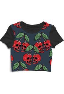 Blusa Feminina Cropped Tshirt Goup Girls Fruta Caveira Skull - Feminino