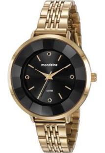 Relógio Mondaine 42Mm Aço Feminino - Feminino-Dourado