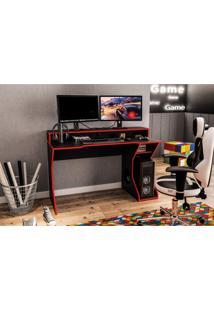 Mesa Para Computador Fremont Politorno Preto/Vermelho