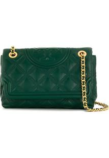 Tory Burch Quilted Logo Cross Body Bag - Verde