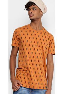 Camiseta Colcci Scaravejo Masculina - Masculino-Laranja Escuro