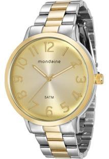 R  250,70. Zattini Relógio Feminino Mondaine Analógico - Unissex-Prata+ Dourado 05f479aecd