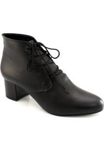 Botinha Salto Grosso Numeração Grande Sapato Show 1015