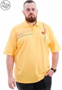 Polo Kairon Plus Size Amarelo