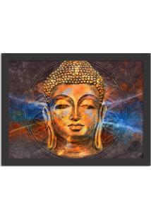 Quadro Decorativo Energias Positivas Buda Preto - Médio