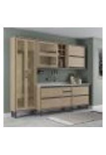 Cozinha Completa Canela Com Cristaleira 8 Pt 5 Gv Salina