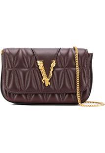 Versace Bolsa Transversal Virtus Matelassê - Vermelho