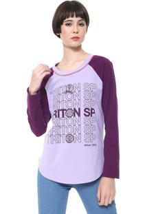 Camiseta Triton Lettering Lilás