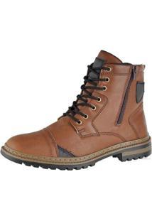 Bota Coturno Attative Boots Masculino - Masculino-Marrom