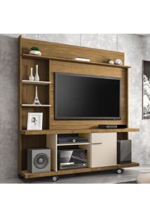 Estante Para Tv Até 47 Polegadas 1 Porta Taurus Cinamomo/Off White - Bechara Móveis