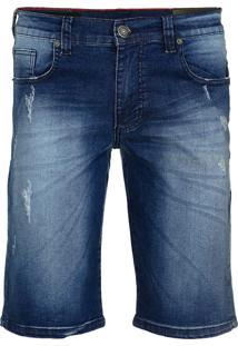 Bermuda Jeans Armani Exchange Masculina Destroyed Medium Wash - 25369