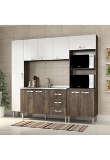 Cozinha Compacta Master Sem Tampo Cm 04 Naturalle/Branco - Fellicci