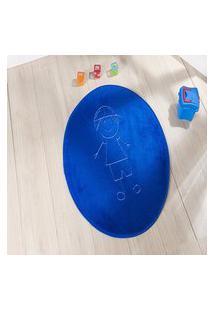 Tapete Formato Feltro Antiderrapante Ítalo Azul Royal