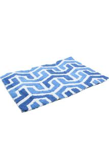 Tapete Kacyumara Decore Mosaic 60X90Cm Azul-Marinho