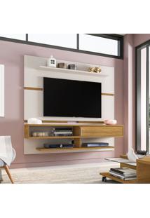 Painel Para Tv Até 65 Polegadas Búzios Flex Color Off-White E Cinamomo