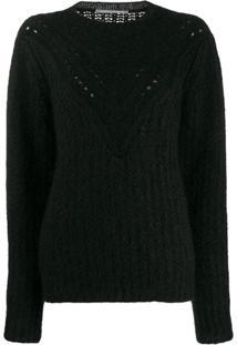 Alberta Ferretti Suéter De Tricô Com Textura - Preto