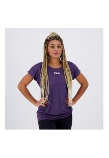 Camiseta Fila Drapped Ii Feminina Roxa