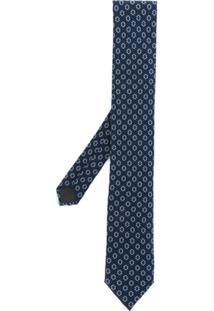 Dolce & Gabbana Gravata Com Padronagem Geométrica - Azul