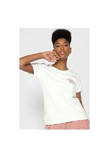 Camiseta Volcom Go Faster Ringer Off-White