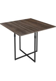 Mesa Para Sala De Jantar Em Aço Quadrada Teka-Brastubo - Am Negra / Preto