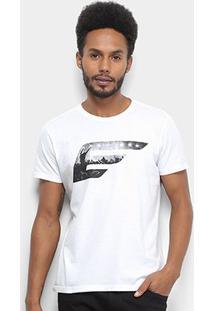 Camiseta Ellus Asa Rock Classic Masculina - Masculino-Branco