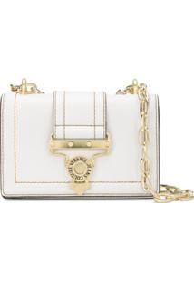 Versace Jeans Couture Bolsa Tiracolo Com Logo - Branco
