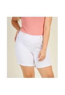 Short Plus Size Feminino Cintura Alta