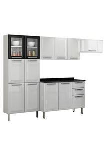 Cozinha Modulada Itatiaia Móveis Tarsila 10 Portas Branca E Preta