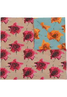 Paul Smith Cachecol De Algodão Com Estampa Monarch Rose - Colorido