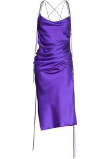 Galvan Vestido Midi Yasmin - Roxo