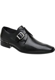 Sapato Monk Masculino Malbork Em Couro 32206 - Masculino-Preto