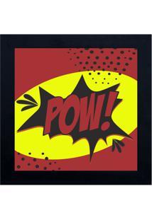 Quadro Decorativo Cartoon Pow - Vermelho Escuro & Amarelkapos
