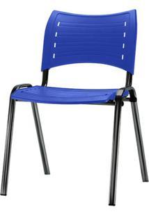 Cadeira Iso Assento Azul Base Preta - 54026 - Sun House