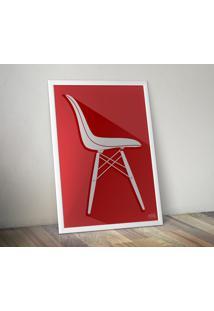 Pôster Cadeira Eames Dsw - Vermelho