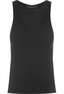 Blusa Feminina Intársia Textura - Preto