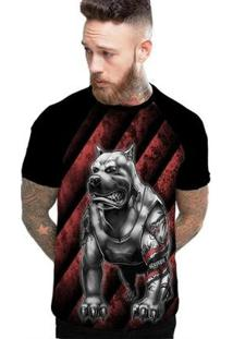Camiseta Stompy Raglan Modelo 193 Masculina - Masculino-Preto