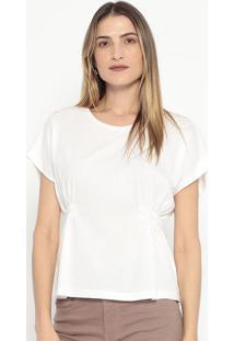 Blusa Com Franzidos- Off White- Colccicolcci