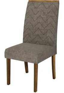 Cadeira Áurea 2 Peças - Demolição Com Linho Bronze