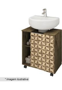 Gabinete Para Banheiro Pequin- Madeira Rãºstica & Bege