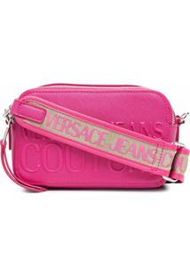 Versace Jeans Couture Embossed Logo Cross-Body Bag - Rosa