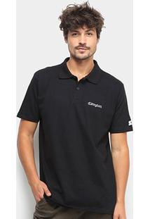 Camisa Polo Starter Piquet Compton Masculina - Masculino-Preto