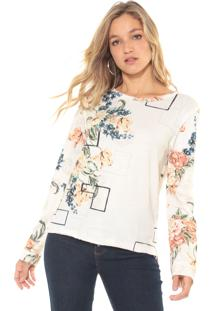 Blusa Dimy Floral Bege
