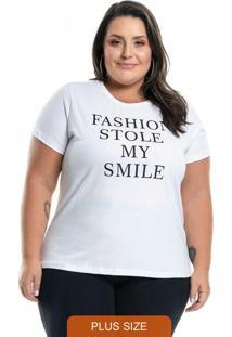 T-Shirt Com Estampa Letter Branco